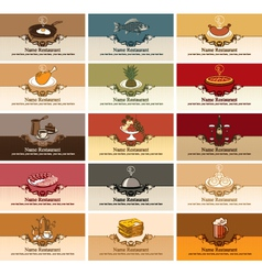 different dishes vector image vector image