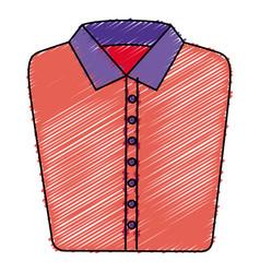 folded elegant shirt icon vector image vector image