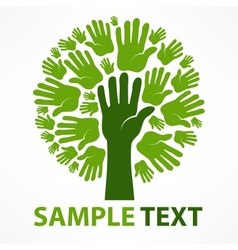 Hands of tree vector image