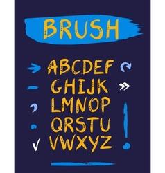 handwritten font vector image