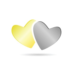 heart color vector image