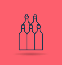 isolated linear icon of wine bottles vector image