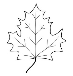 maple leaf mono sign 108 vector image vector image