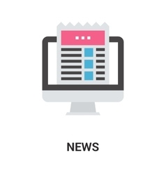 news icon concept vector image vector image