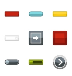 On off buttons icons set flat style vector