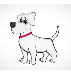 Outlined cute cartoon dog vector image vector image