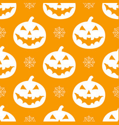 Pattern with white pumkins vector
