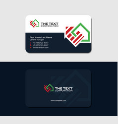 Realty broker creative business card vector