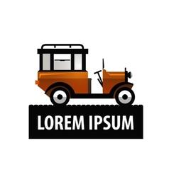 retro car logo design template transport vector image vector image