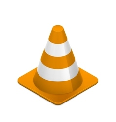 Road cone on white vector image vector image