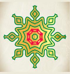 Snowflake or star decoration christmas greeting vector
