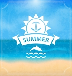 Summer template of holidays design and typography vector