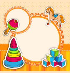 Toys frame sketch vector
