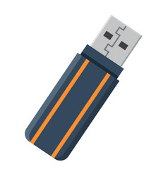 Usb flash drive flat icon device and hardware vector