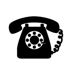 Phone vintage telephone call line supplies icon vector