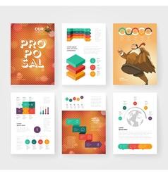 infographics brochure vector image