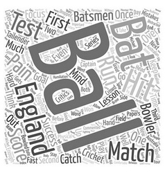 Success lessons from cricket text background vector