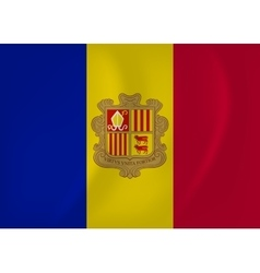 Andorra waving flag vector