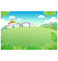 School landscape background vector