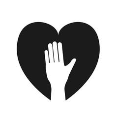 human hand up symbol vector image