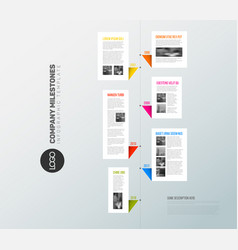 Vertical infographic timeline report template vector