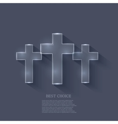 Cross on blue background eps 10 vector