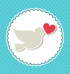Love bird design vector
