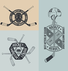 Unusual hockey logo vector