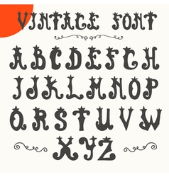 Hand drawn vintage font alphabet vector
