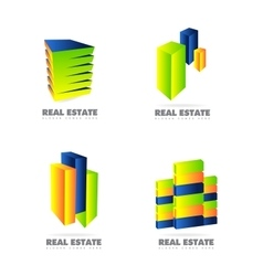 Real estate logo set icon vector