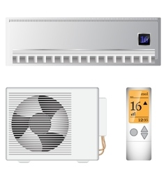 Split air conditioner vector