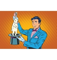 Magician trick rabbit vector