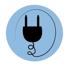 Icon outlet plug vector