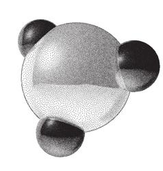 Molecule sign with dotwork gradient vector image
