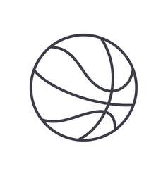 basketball sign line icon sign vector image