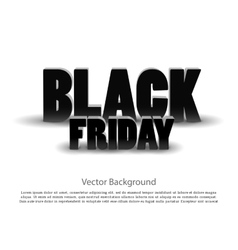 Black friday sale background on white vector image