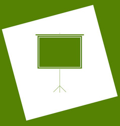 Blank projection screen white icon vector