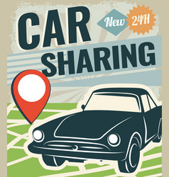 car sharing vector image