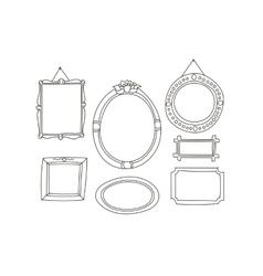 Cartoon Frames Collection vector image vector image