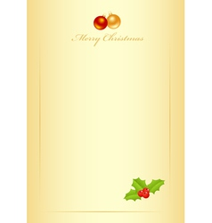 christmas form vector image vector image