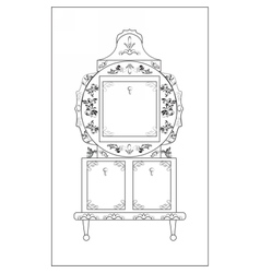 Classic royal ornamented round glass vector