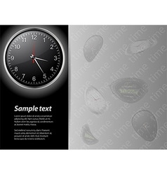Clock time card and sample text vector image vector image
