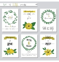 Collection of cute card vector image vector image