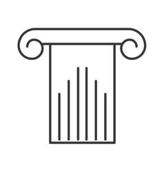 column structure silhouette icon vector image