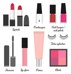 Cosmetics set for a make-up set 1 vector image vector image