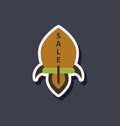 Fashion patch sale sticker rocket vector