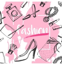 Fashion sketch clutches vector