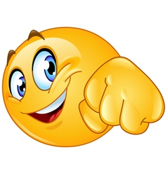 Fist bump emoticon vector