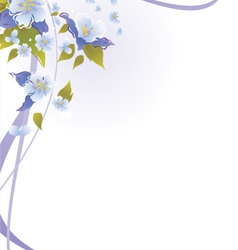 floral backgrounds vector image vector image