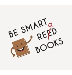 Funny book vector